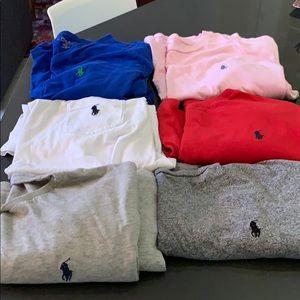 Polo shirts - 6 - men's XL various colors